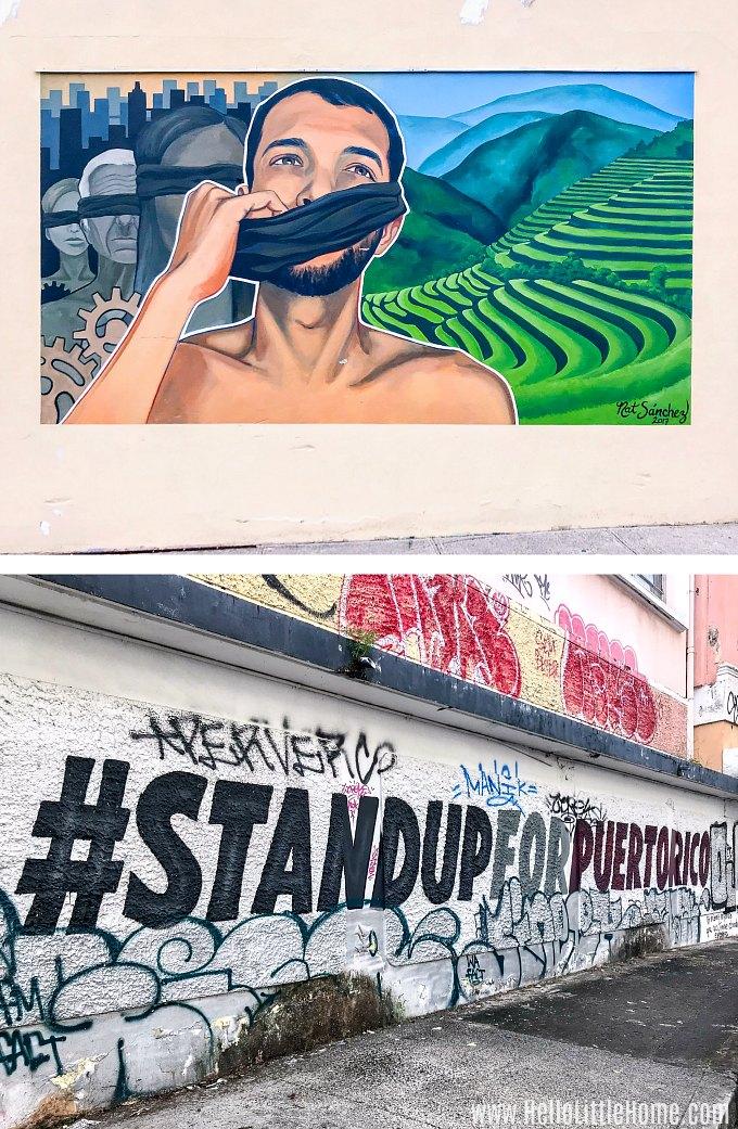 Street art in Santurce, San Juan.