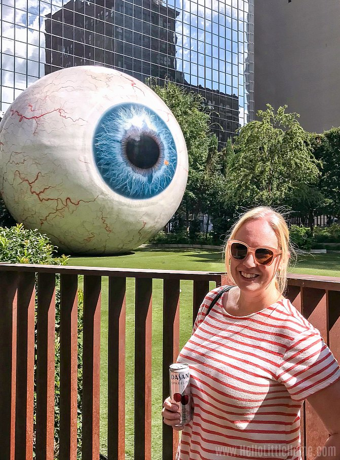The Eye Sculpture in Downtown Dallas.
