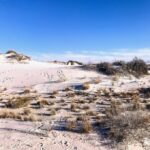 The beautiful white sand desert in White Sands National Monument.