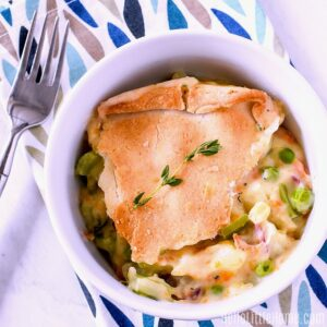 Veggie Pot Pie made in a Ninja Foodi.