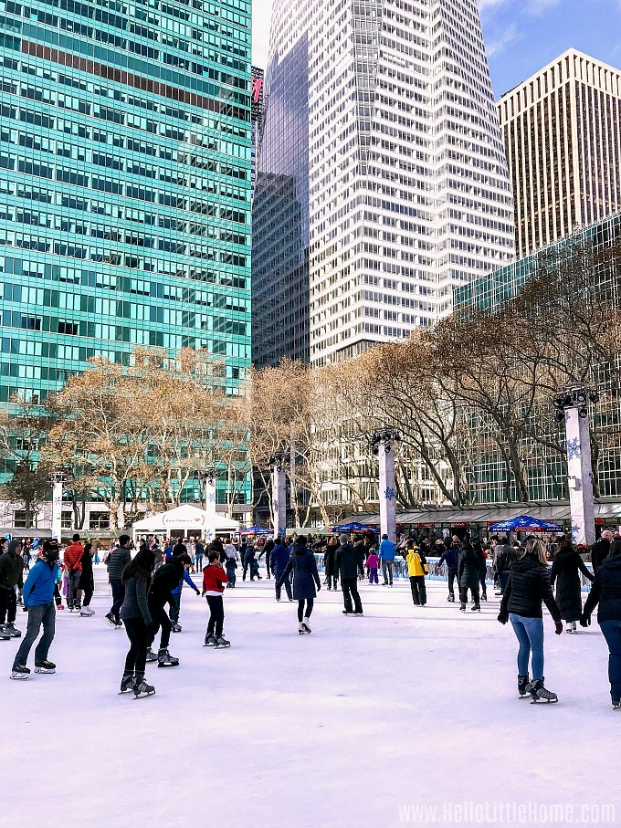 Bryant Park, one of the Best NYC Ice Skating Rinks
