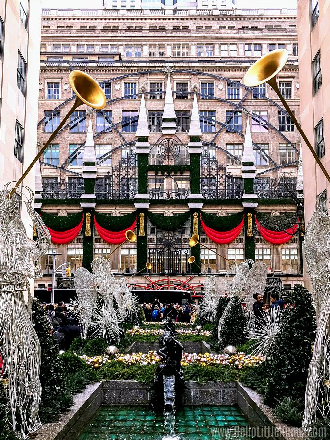 Christmas in New York at Saks Fifth Avenue