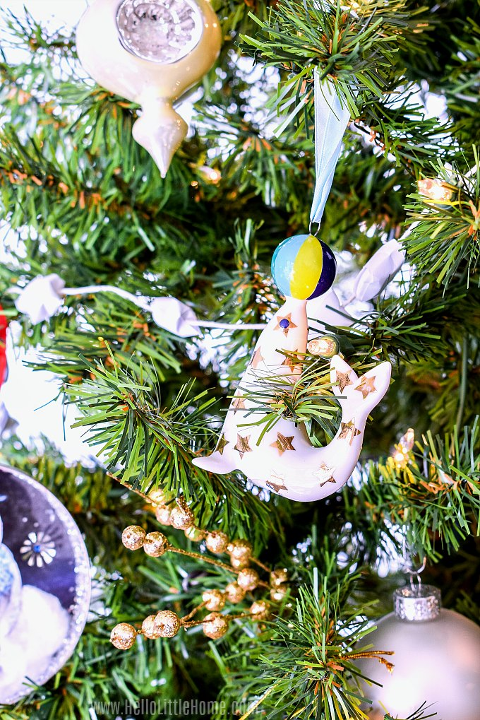 Easy Christmas tree decorating tips: adding special ornaments last.