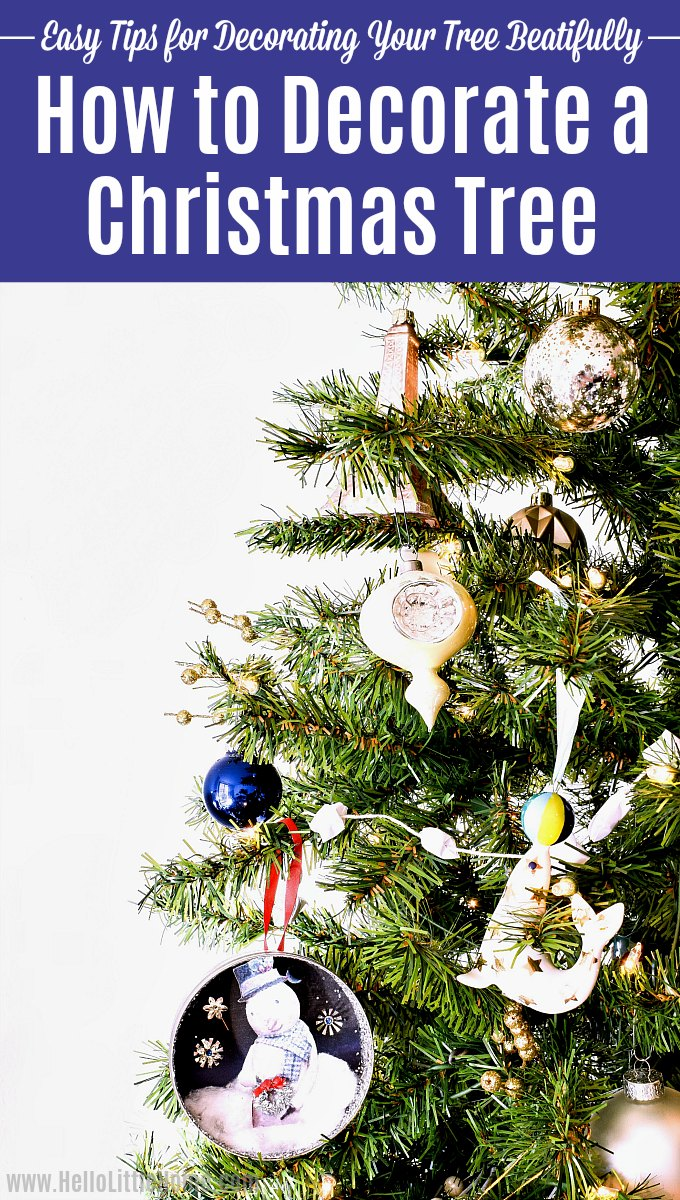 How to decorate a Christmas tree step-by-step