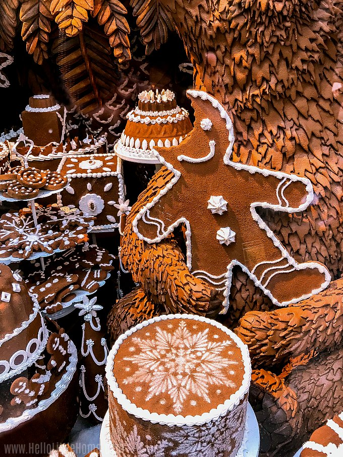 Gingerbread window decorations at Bergdorf Goodman in NYC.