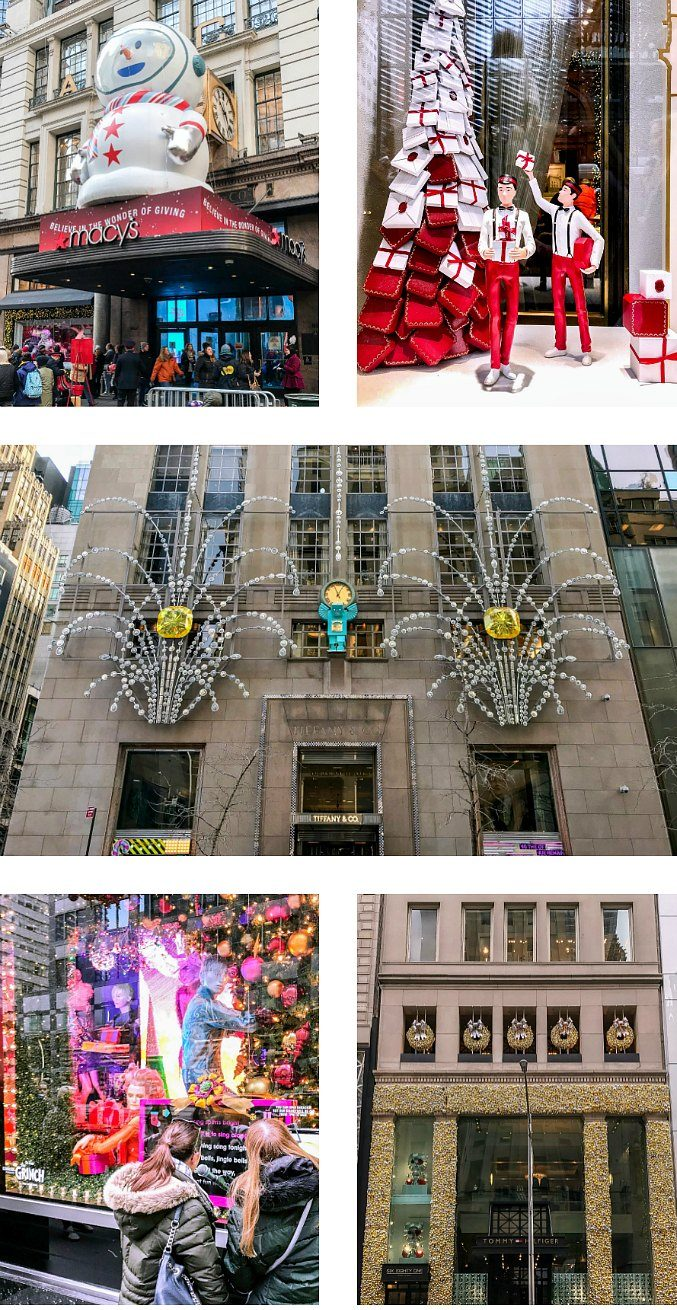 Favorite NYC Holiday Windows and Decorations at Tiffany's, Cartier, NYC Library, Bergdorf Goodman, and more.