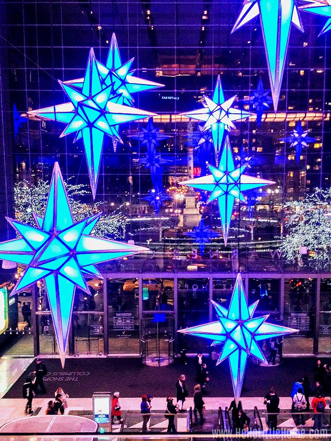 Other places to see NYC Christmas Windows: The Shops at Columbus Circle.