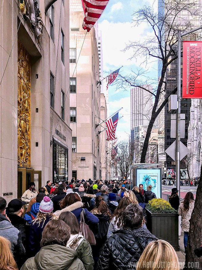 Crowds during Xmas in New York