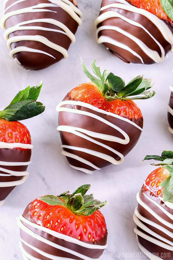 Easy Chocolate Covered Strawberries Recipe Hello Little Home