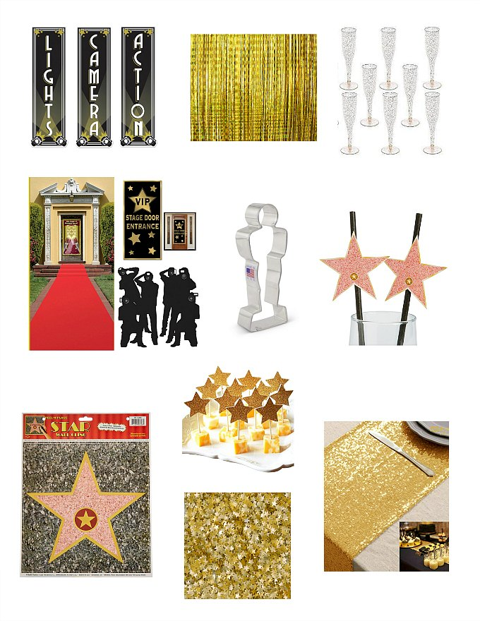 Oscar Party Decorations for an Academy Awards Viewing Party
