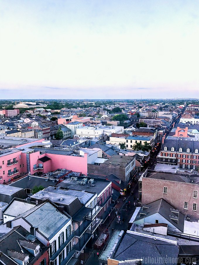 An aerial view of the French Quarter.