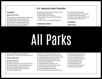 photograph about Printable National Park Checklist named US Nationwide Parks Record with Printable Listing Howdy