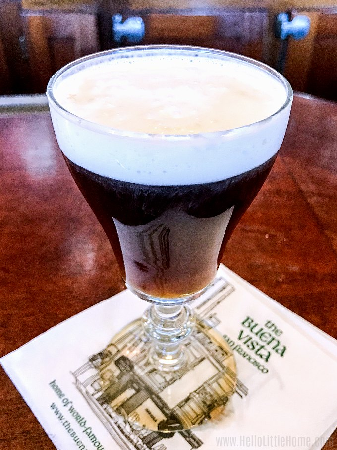 An Irish Coffee at The Buena Vista Cafe in San Francisco.
