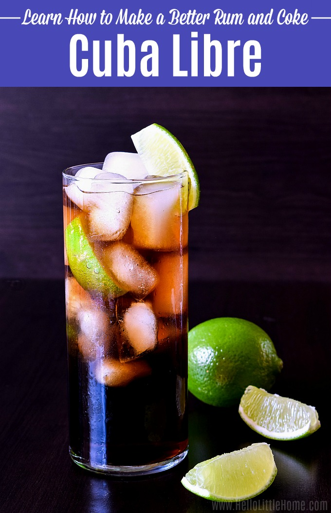 A Cuba Libre drink recipe served in a tall glass.