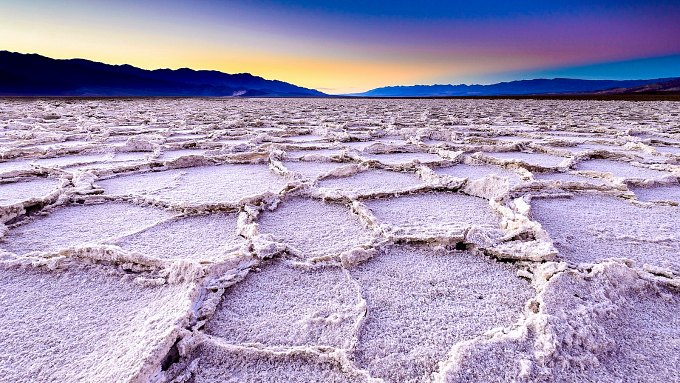A colorful sunset in Death Valley National Park.