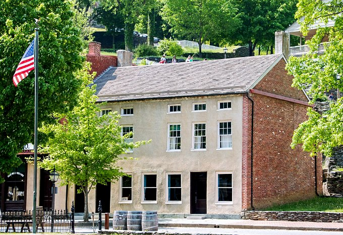 A brick building at Harpers Ferry National Historical Park.