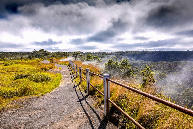 A path in Hawaii Volcanoes National Park.
