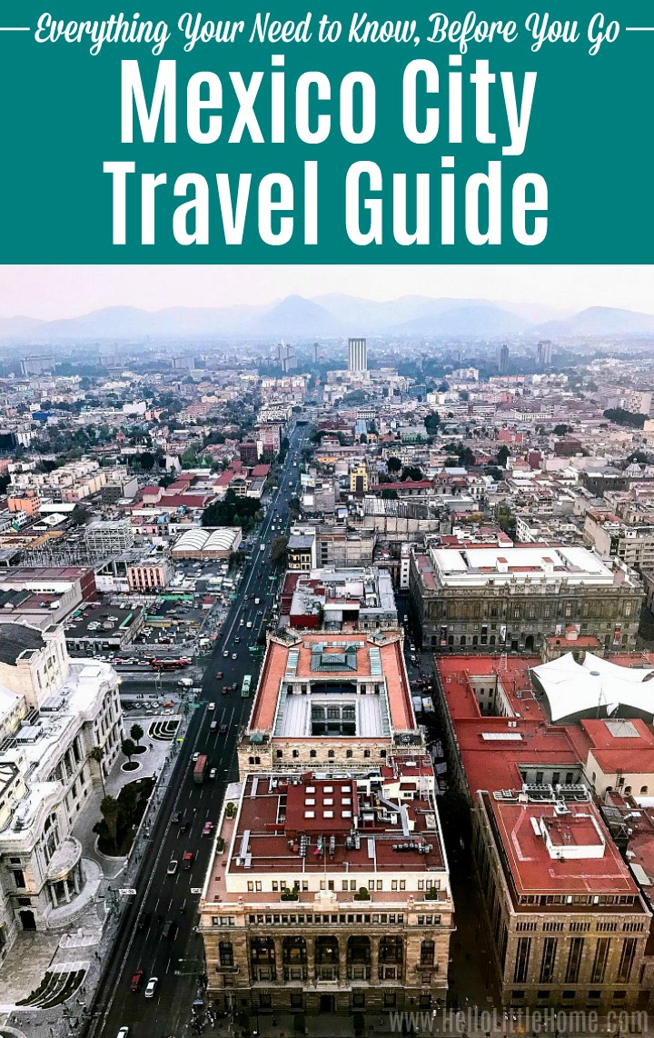 Mexico City Travel Guide: An aerial view of Mexico City taken from the Torre Latinoamericana.