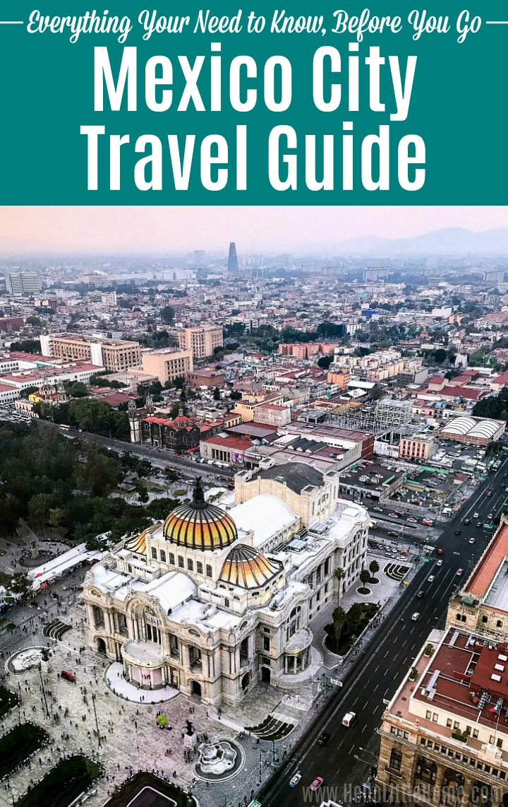 Mexico City Travel Guide: An image showing an overhead view of the Palacio de Bellas Artes.