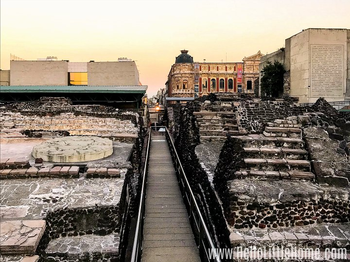 Ruins of Templo Mayor in Mexico City.