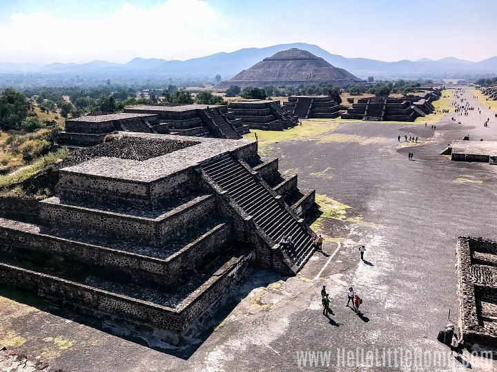 Pyramids at Teotihuacan in Mexico.
