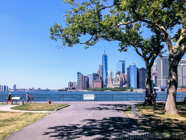 A view of Manhattan from Governors Island National Monument.