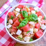 Watermelon Basil Quinoa Salad