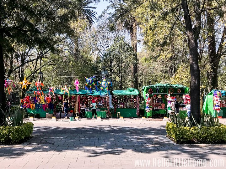 A weekend market in Parque Lincoln in Polanco, Mexico City.
