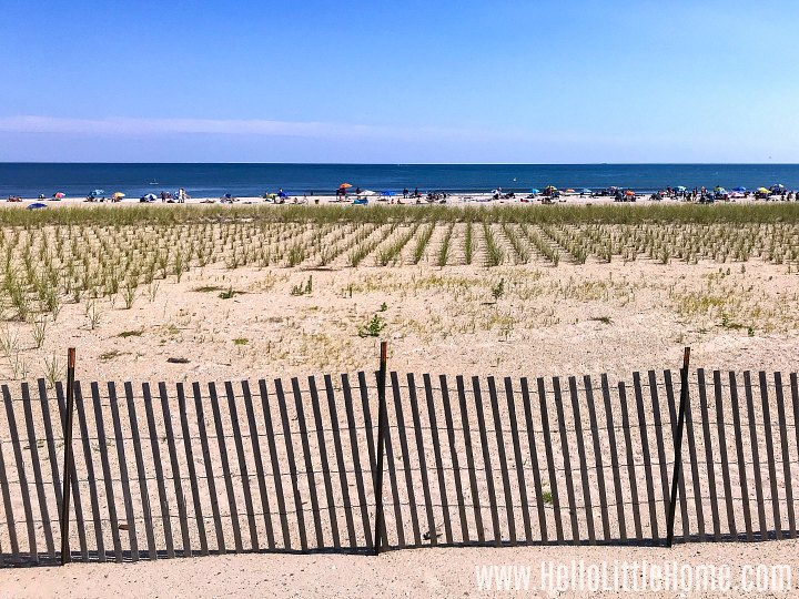 A Rockaway Beach beach.