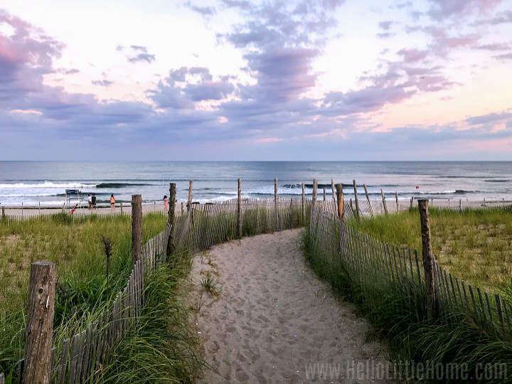 A path leading to the beach in Rockaway, New York.