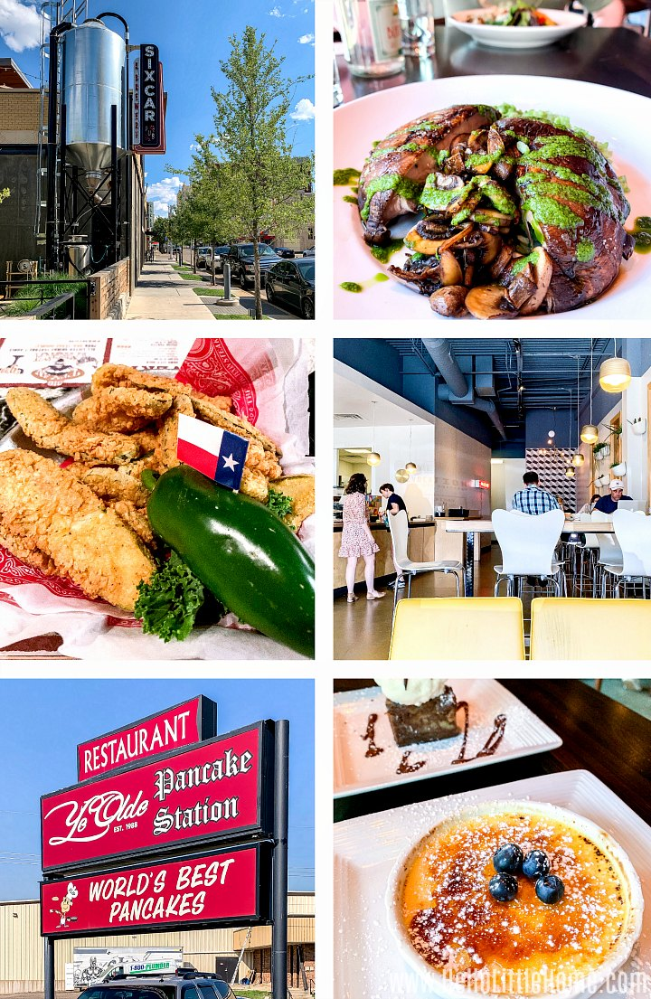 A collage of photos from the best Amarillo restaurants.