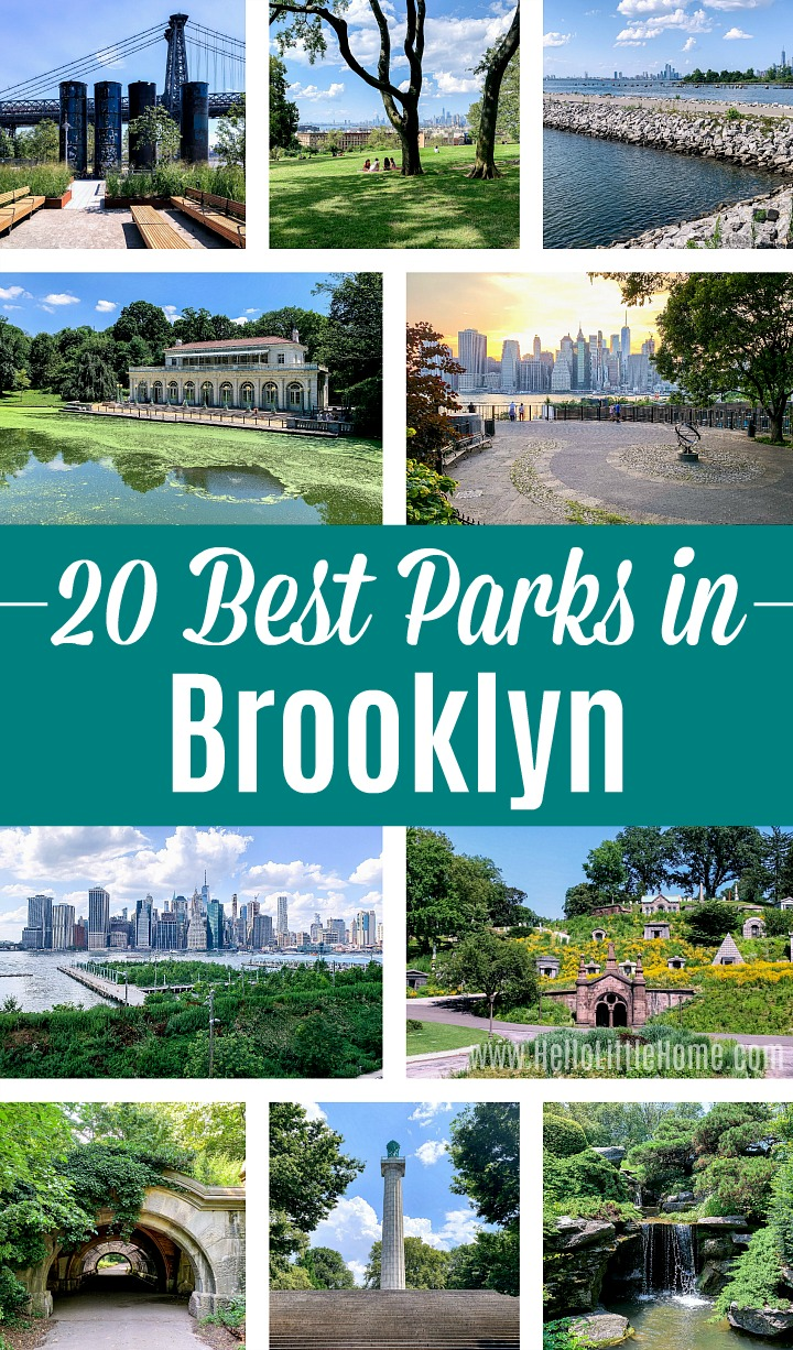 A photo collage showing the Best Brooklyn Parks.