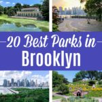 A photo collage of the best parks in Brooklyn.