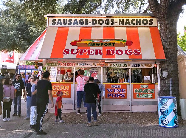 A food stand at the Texas State Fair.
