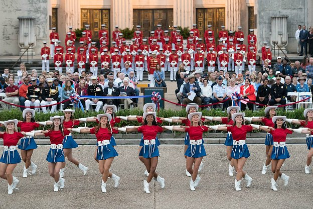 The opening day ceremony at the State Fair of Texas.