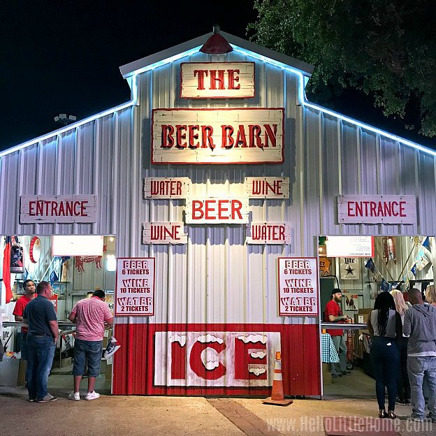 The Beer Barn at the State Fair of Texas.