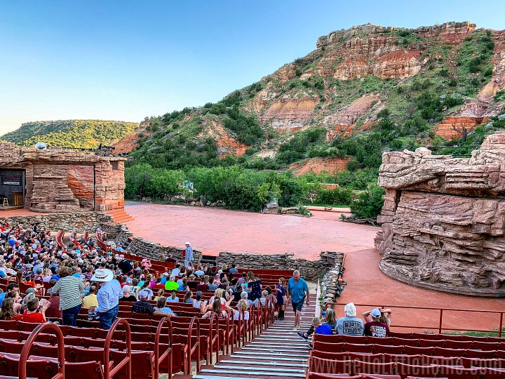 The stage for Texas, the Musical in the Palo Duro Canyon.