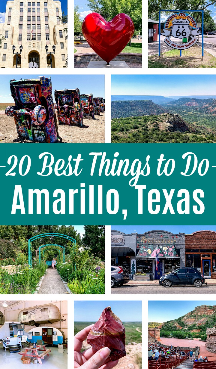 A collage of the best things to do in Amarillo, Texas.