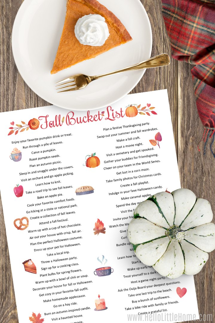 60 Fun Fall Bucket List Ideas Hello Little Home