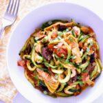 A bowl of Zucchini Spaghetti