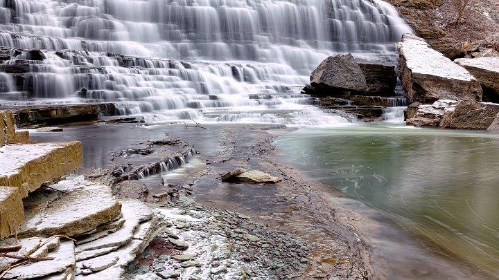 The Albion Falls in Hamilton, Canada.