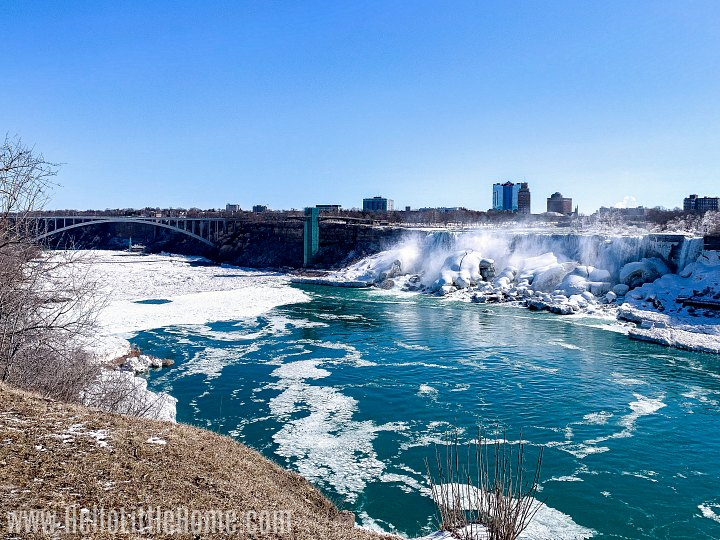 A view of the American Niagara Falls from Canada.