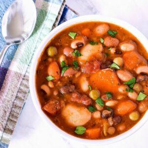 A bowl of 15 Bean Soup.