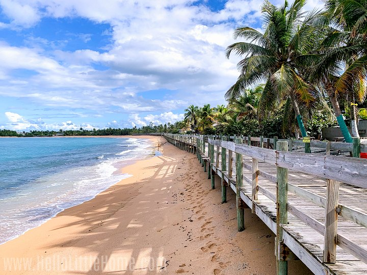 A boardwalk on the beach in Piñones, Puerto Rico.