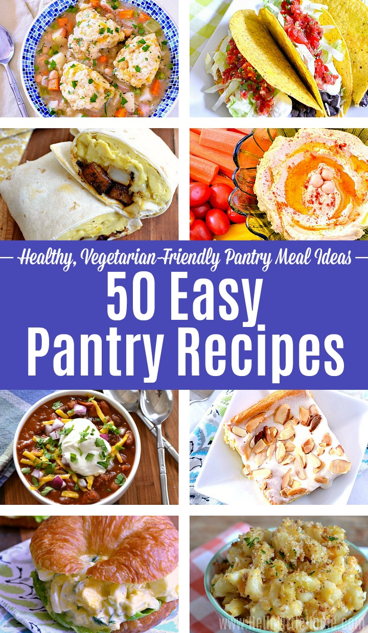 A collage of different Pantry Recipes.