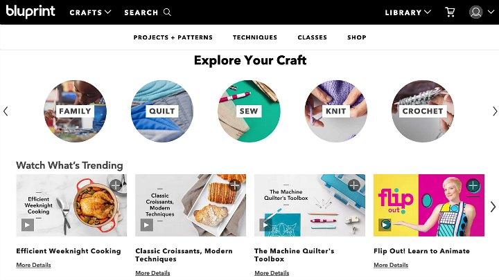 A screenshot of Bluprint's homepage.