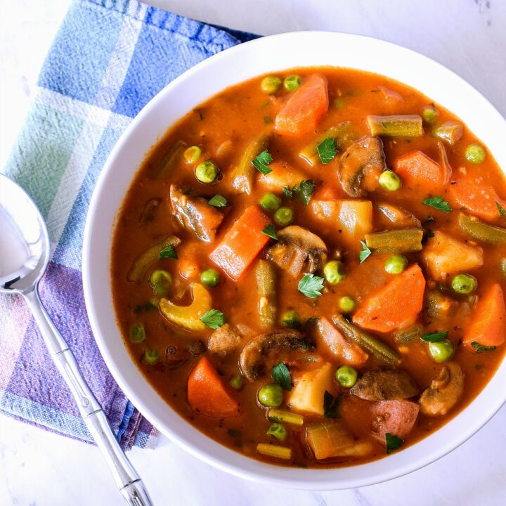 A bowl of Vegetable Stew.