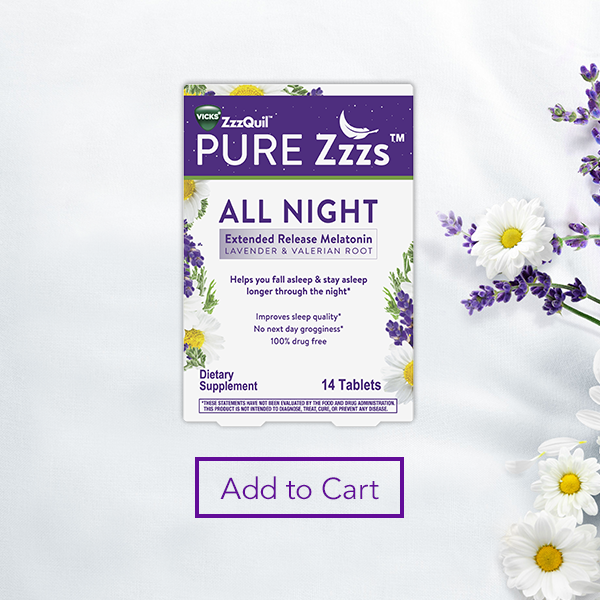 A box of ZzzQuil on a white background.