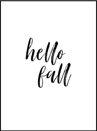An image of the Hello Fall Printable.