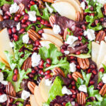 Closeup of the finished Pomegranate Salad.